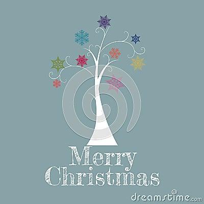 Free Minimal Christmas Tree Card Royalty Free Stock Photo - 27263455