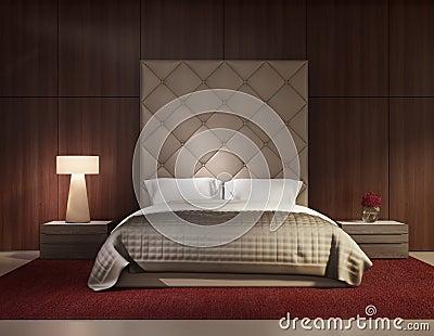Minimal contemporary bedroom luxury interior