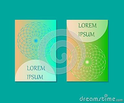 Minimal covers design. Flower of Life. Sacred Geometry. Mandala Symbol. Vector Illustration. EPS 10. Vector Illustration