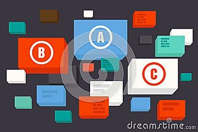 Minimal design of box-bubble icons
