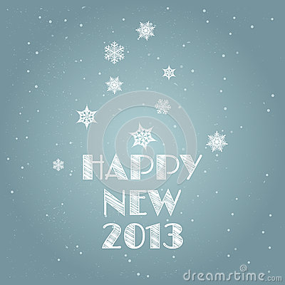Minimal Happy New Year background