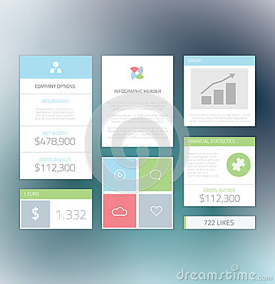 Minimal info graphic flat fresh business elements