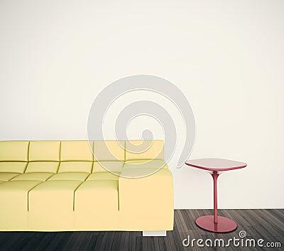 Minimal interior couch
