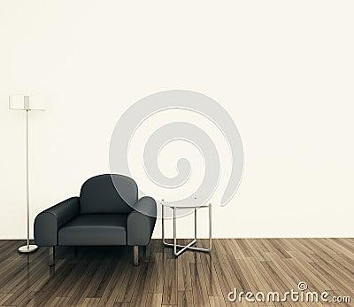 Minimal modern interior armchair