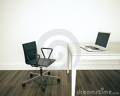 Minimal modern interior office