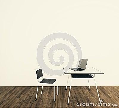 Minimal modern interior office