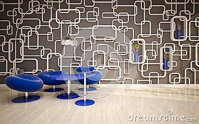 Minimal modern interior . offis
