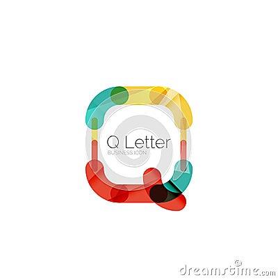 Minimal Q Font O...Q Letter Design