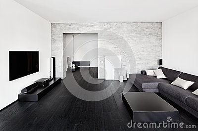 Minimalism drawing-room interior