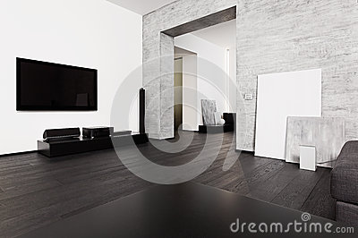 Minimalism style drawing-room interior