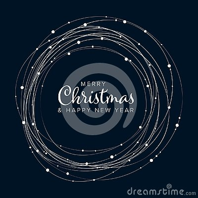Free Minimalist Christmas Flyer/card Template Stock Images - 130970384