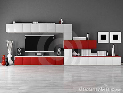 Minimalist Empty Living Room Stock Photography - Image: 19175772