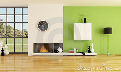 Minimalist fireplace