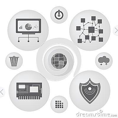 Minimalist interface icons