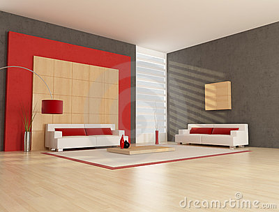 Minimalist Lounge Stock Photo Image 13611910