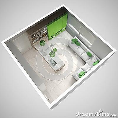 Groen houten keuken - Groene en witte keuken ...