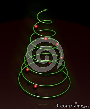 Minimalny Bożego Narodzenia drzewo