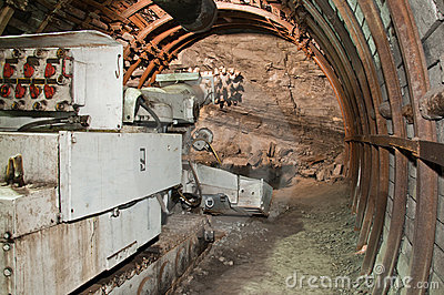Mining machine in coal mine