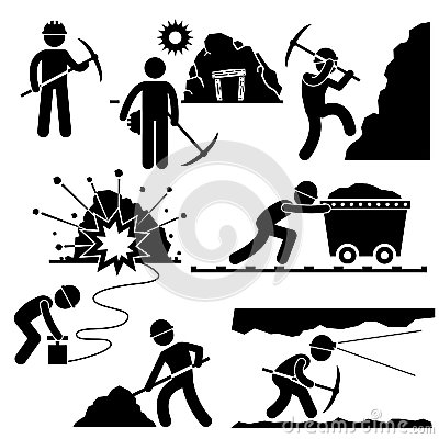 Free Mining Worker Miner Labor People Pictogram Royalty Free Stock Photography - 29792377