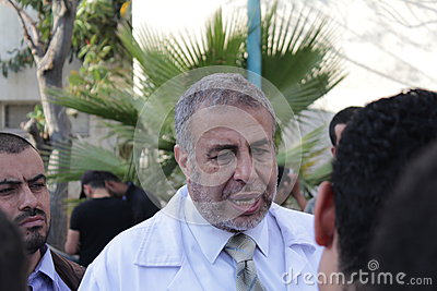 The minister of health in gaza Editorial Stock Photo