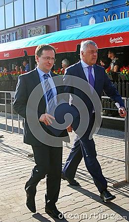 Minister Vladimir Medynski at Moscow Film Festival Editorial Stock Photo