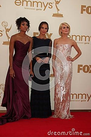 Minka Kelly, Rachael Taylor, Annie Ilonzeh Editorial Image