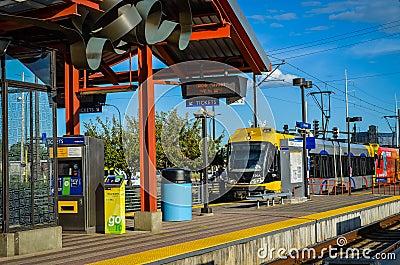 Minneapolis Hiawatha Light Rail Station Editorial Image