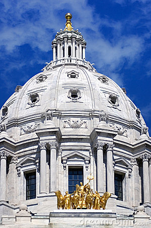 Minnesota State Capitol St Paul MN - Straight on