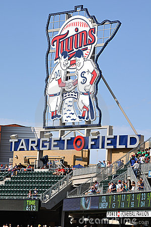 Free Minnesota Twins Sign At Target Field Royalty Free Stock Photography - 14772357
