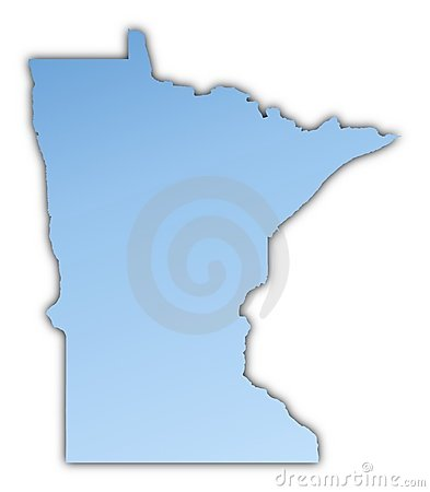Minnesota(USA) map
