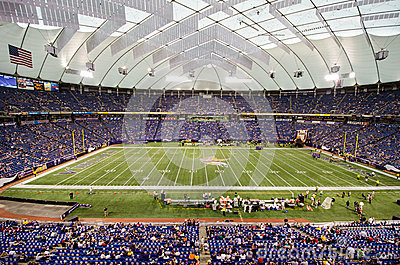 Minnesota Vikings game at Mall of America Field Editorial Image