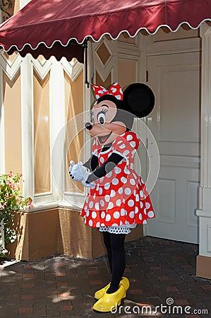 Minnie Mouse Disneyland Editorial Stock Image