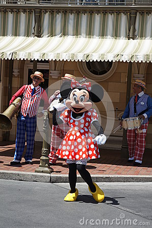 Minnie Mouse at Disneyland Editorial Stock Photo