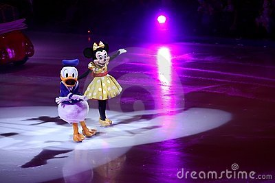 Minnie Mouse and Donald Duck Editorial Photography
