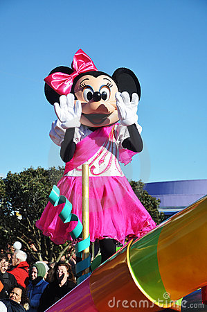 Minnie Mouse in A Dream Come True Celebrate Parade Editorial Stock Photo