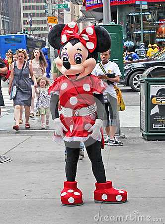 Minnie Mouse In NY. Editorial Photography