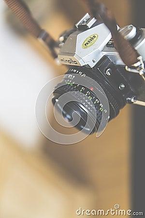 Minolta Black And Silver Camera Free Public Domain Cc0 Image