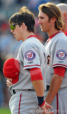Minor league baseball - National Anthem Editorial Stock Photo