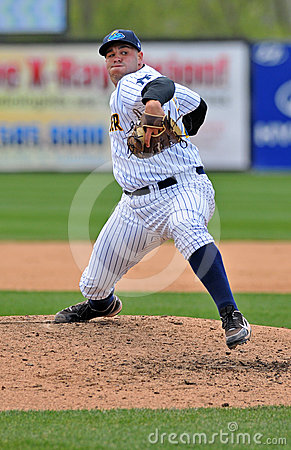 Minor League baseball pitcher - delivery Editorial Image