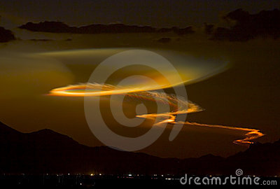 Minotaur Missile Launch at Sunset