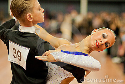 MINSK-BELARUS, MARCH 4: a teenage Dance Couple Editorial Photography