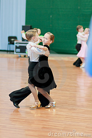MINSK-BELARUS, MAY 29: Unidentified Dance Couple Editorial Stock Photo