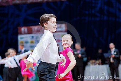 MINSK-BELARUS, OCTOBER 9:child Dance Couple Editorial Stock Image