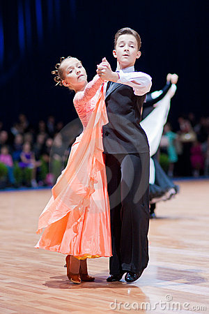 MINSK-BELARUS, OCTOBER 9:Dance Couple Editorial Stock Photo