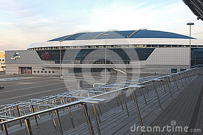 Minsk Velodrome Sport Venue Shot from Stairs of Minsk -Arena Ice