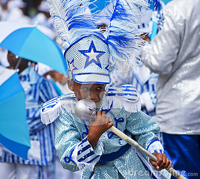 Minstrel Carnival - Boy Kisses Baton Editorial Stock Image