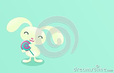 Mint candy. Pretty bunny.