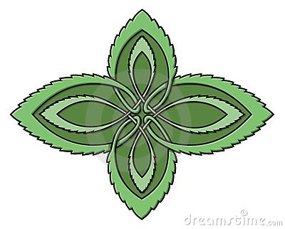 Mint celtic knot