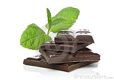 Mint chocolate concept