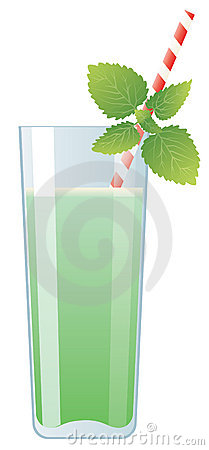 Mint cream cocktail in glass